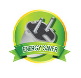 Energy saver item seal. Illustration of quality seal or badge for items with energy saving capabilities Stock Photo