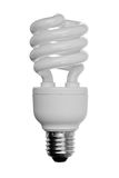 Energy saver Light bulb. Isolated on white Royalty Free Stock Photography