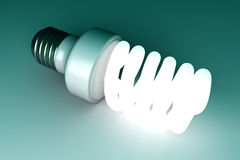 Energy Saver Light Bulb Stock Photo
