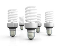 Energy Saver Light Bulbs Royalty Free Stock Photography