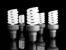 Energy Saver Light Bulbs Stock Images