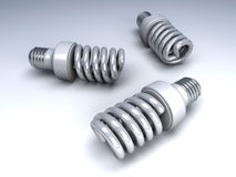 Energy Saver Light Bulbs Stock Photo