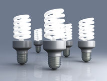 Energy Saver Light Bulbs Stock Photos