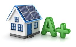 Energy Saver with Solar Panel Stock Images