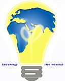 Energy Saving. An electric light bulb, the savings of all types of energy will save the environment Stock Images