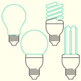 Energy Saving bulb, compact fluorescent lamp Stock Photo