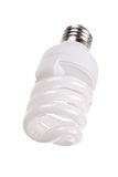 Energy saving bulb on white Royalty Free Stock Photography