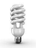 Energy saving bulb on white background. Isolated 3D image Stock Photography