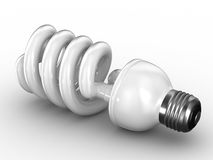 Energy saving bulb on white background Stock Image