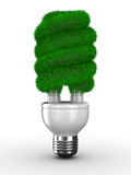 Energy saving bulb on white background. Isolated 3D image Stock Photos