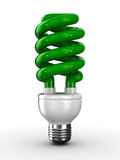 Energy saving bulb on white background Stock Photography