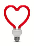 Energy saving bulb on white background Royalty Free Stock Photos