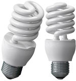 Energy saving bulbs Stock Image