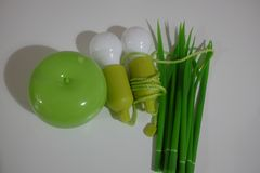 Energy-saving bulbs Stock Photos