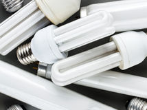 Energy saving bulbs Stock Image