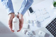Energy saving cfl lamps Royalty Free Stock Image