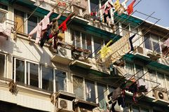 Energy Saving Clotheslines Shanghai China Royalty Free Stock Photo
