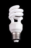 Energy saving compact fluorescent lamp Stock Photos