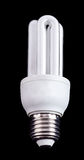 Energy saving compact fluorescent lamp Royalty Free Stock Photos