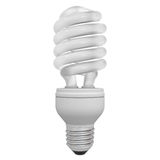 Energy saving compact fluorescent light bulb Royalty Free Stock Photos