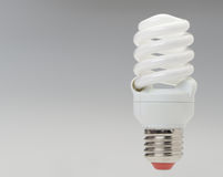Energy saving compact fluorescent lightbulb Royalty Free Stock Photography