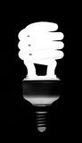 Energy saving compact fluorescent lightbulb Stock Photos