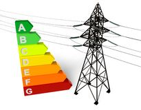 Energy saving concept Stock Photography