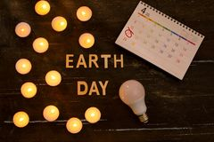 Energy saving. Concept by the hour of the earth, an hour without. Light stock image