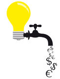 Energy saving. Concept image Royalty Free Stock Images