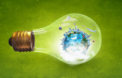 Energy saving concept Royalty Free Stock Images