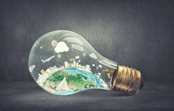 Energy saving concept Royalty Free Stock Photos