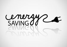 Energy Saving. Conceptual typography of energy saving Stock Photos