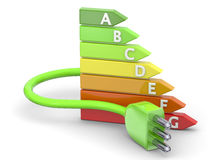 Energy Saving - 3D Royalty Free Stock Photos
