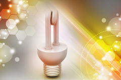 Energy saving fluorescent Royalty Free Stock Image