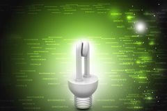 Energy saving fluorescent Royalty Free Stock Photos