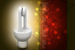 Energy saving fluorescent Stock Photography