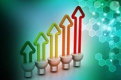 Energy saving fluorescent Royalty Free Stock Image