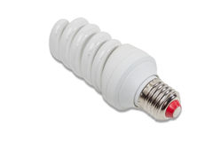 Energy-saving fluorescent lamp Royalty Free Stock Photography