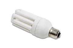 Energy-saving fluorescent lamp Stock Photos