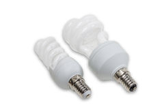 Energy-saving fluorescent lamps Royalty Free Stock Photography