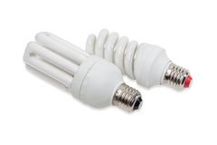 Energy-saving fluorescent lamps Stock Photography