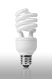 Energy saving fluorescent light bulb Royalty Free Stock Image