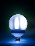 Energy saving fluorescent light bulb Stock Photo
