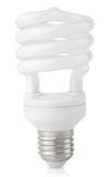 Energy saving fluorescent light bulb Stock Photos