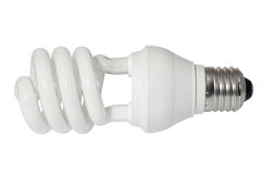 Energy saving fluorescent light bulb (CFL) Stock Images