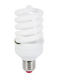 Energy saving fluorescent light bulb (CFL) Stock Photo