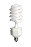Energy saving fluorescent light bulb Stock Image