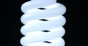 Energy saving fluorescent light bulb stock video footage