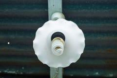 Energy saving fluorescent light bulb for home decoration. Stock Image