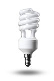 Energy saving fluorescent light bulb isolated Stock Photography